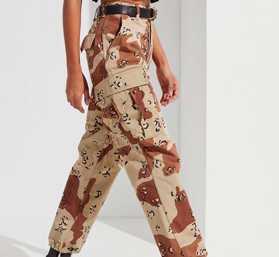 Slide View: 2: Vintage Stonewashed Camo Surplus Pant