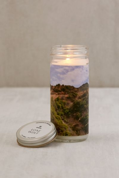 US@UO Artist Photography Series Jar Candle - Dark Grey One Size at Urban Outfitters