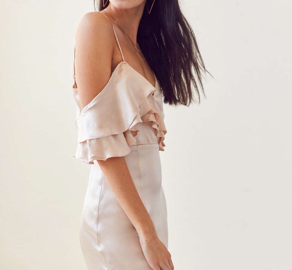 Slide View: 1: WINONA Ashley Asymmetrical Ruffle Mini Dress