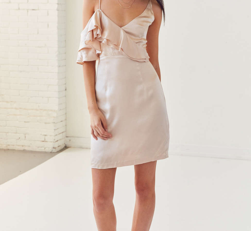 Slide View: 4: WINONA Ashley Asymmetrical Ruffle Mini Dress
