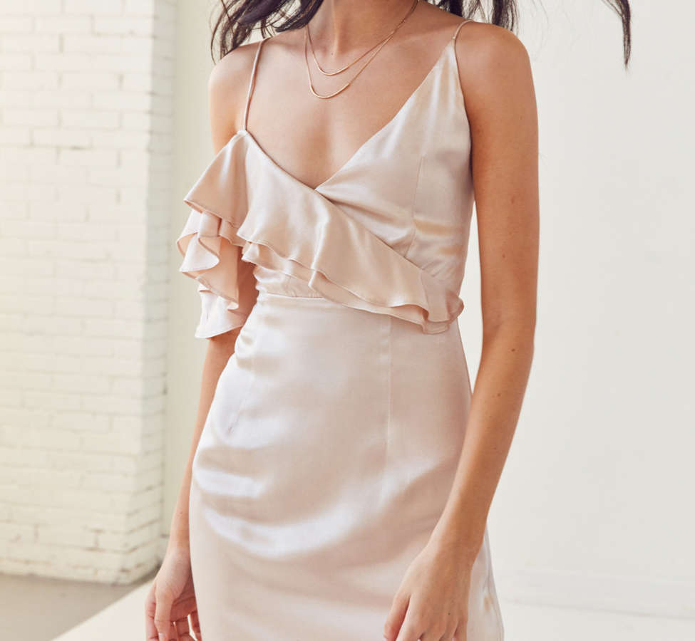Slide View: 5: WINONA Ashley Asymmetrical Ruffle Mini Dress