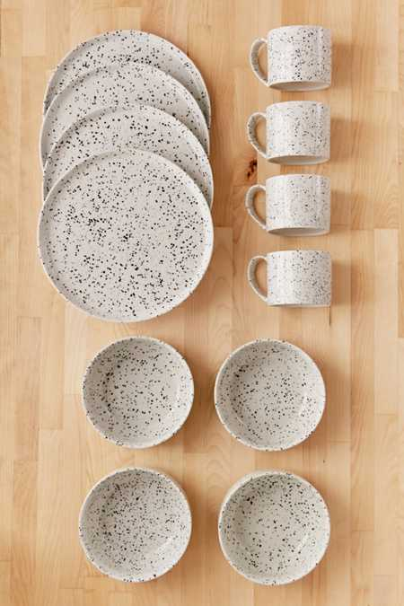 12-Piece Speckled Dinnerware Set