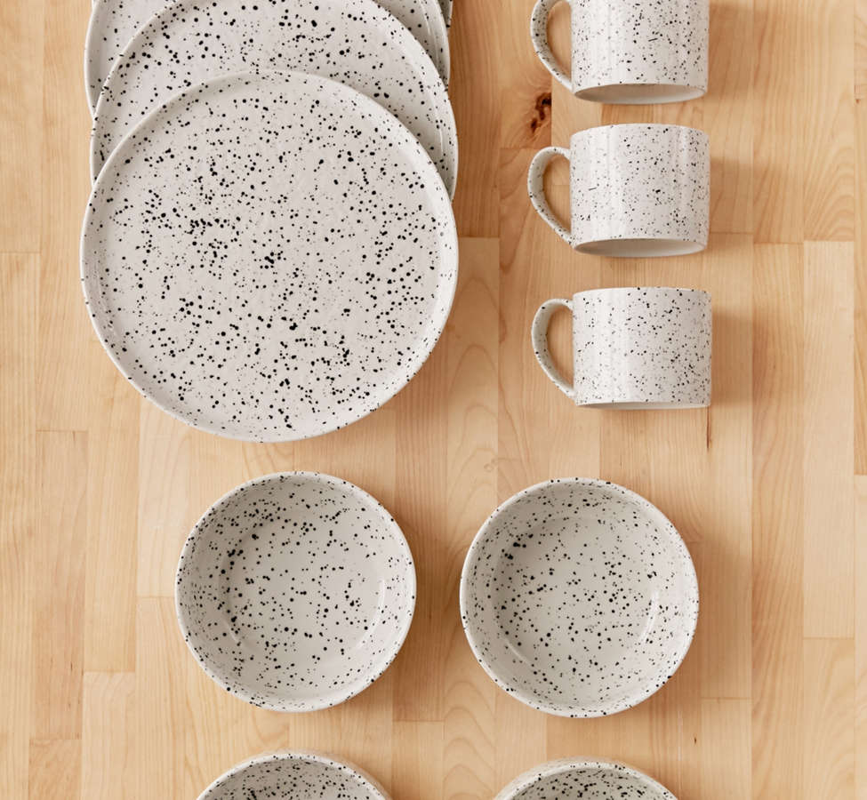 Slide View: 1: 12-Piece Speckled Dinnerware Set