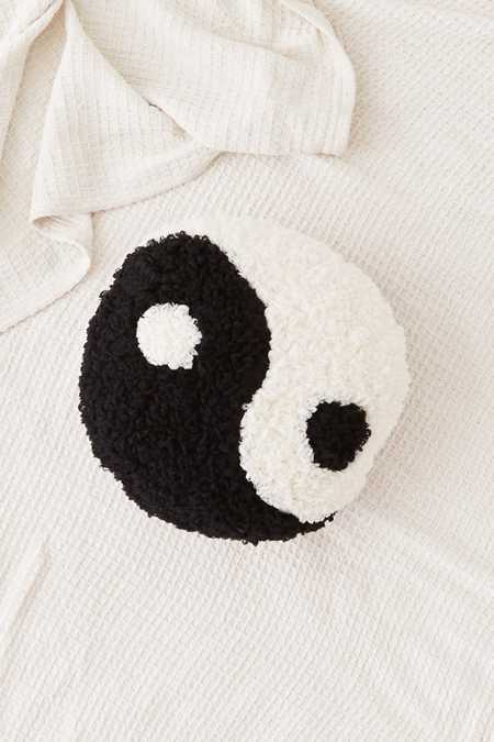 Shaggy Yin-Yang Throw Pillow
