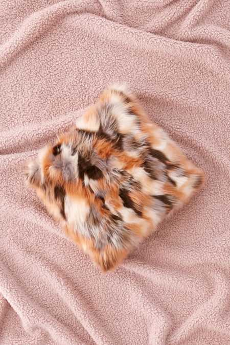 Mixed Faux Fur Throw Pillow