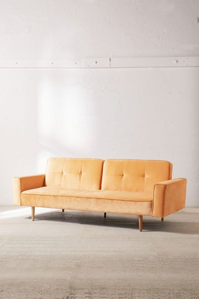 Bella Velvet Sleeper Sofa Urban Outfitters