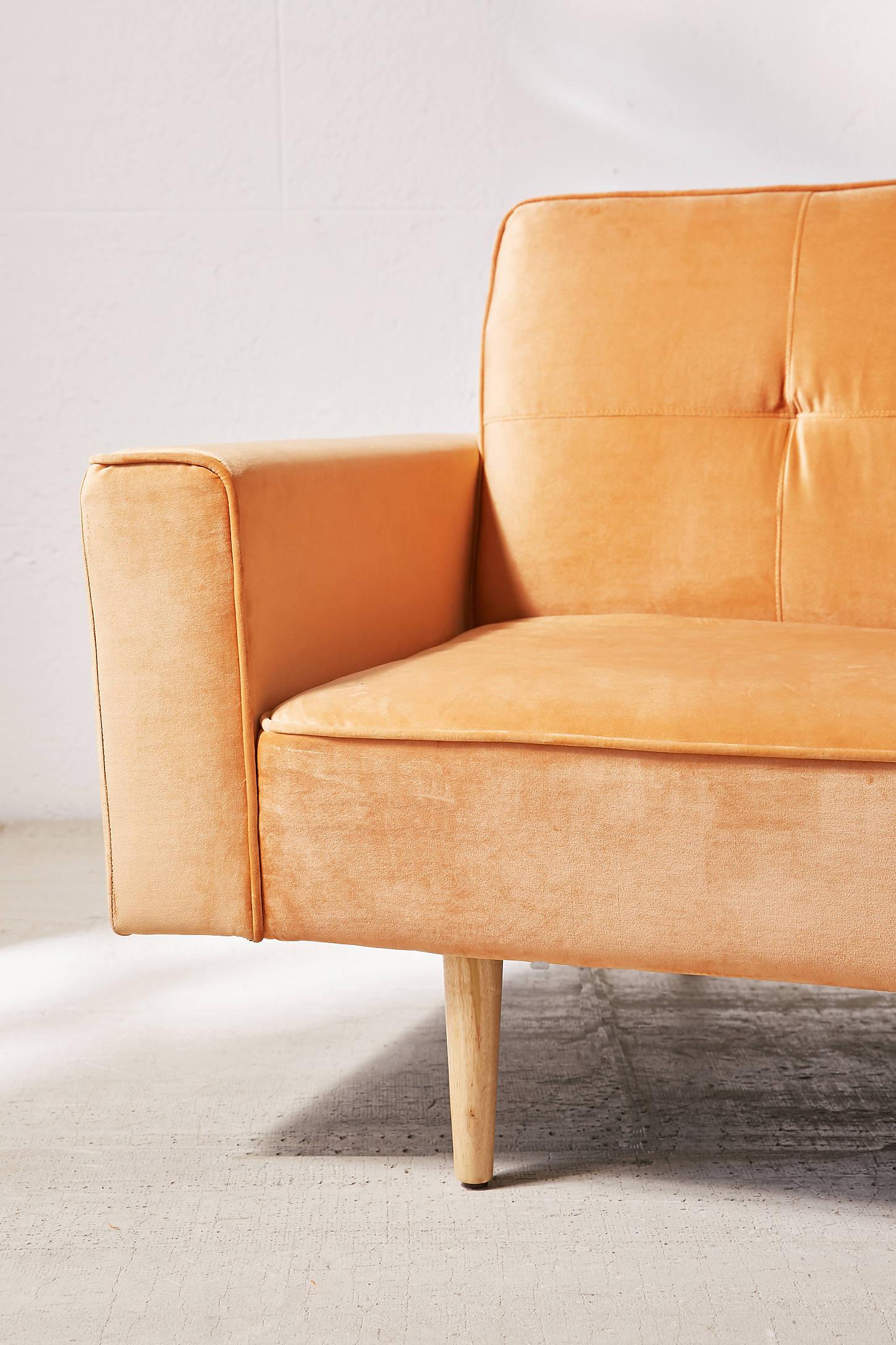 Bella Velvet Sleeper Sofa