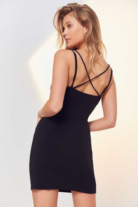 Silence + Noise Strappy Back Mini Dress