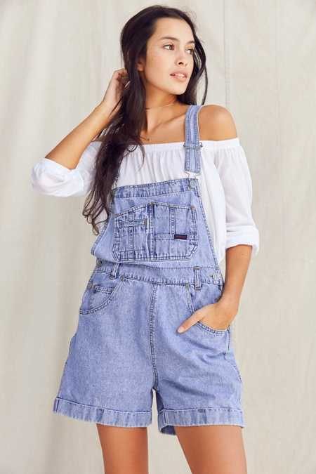 Urban Renewal Recycled '90s Denim Shortall Overall