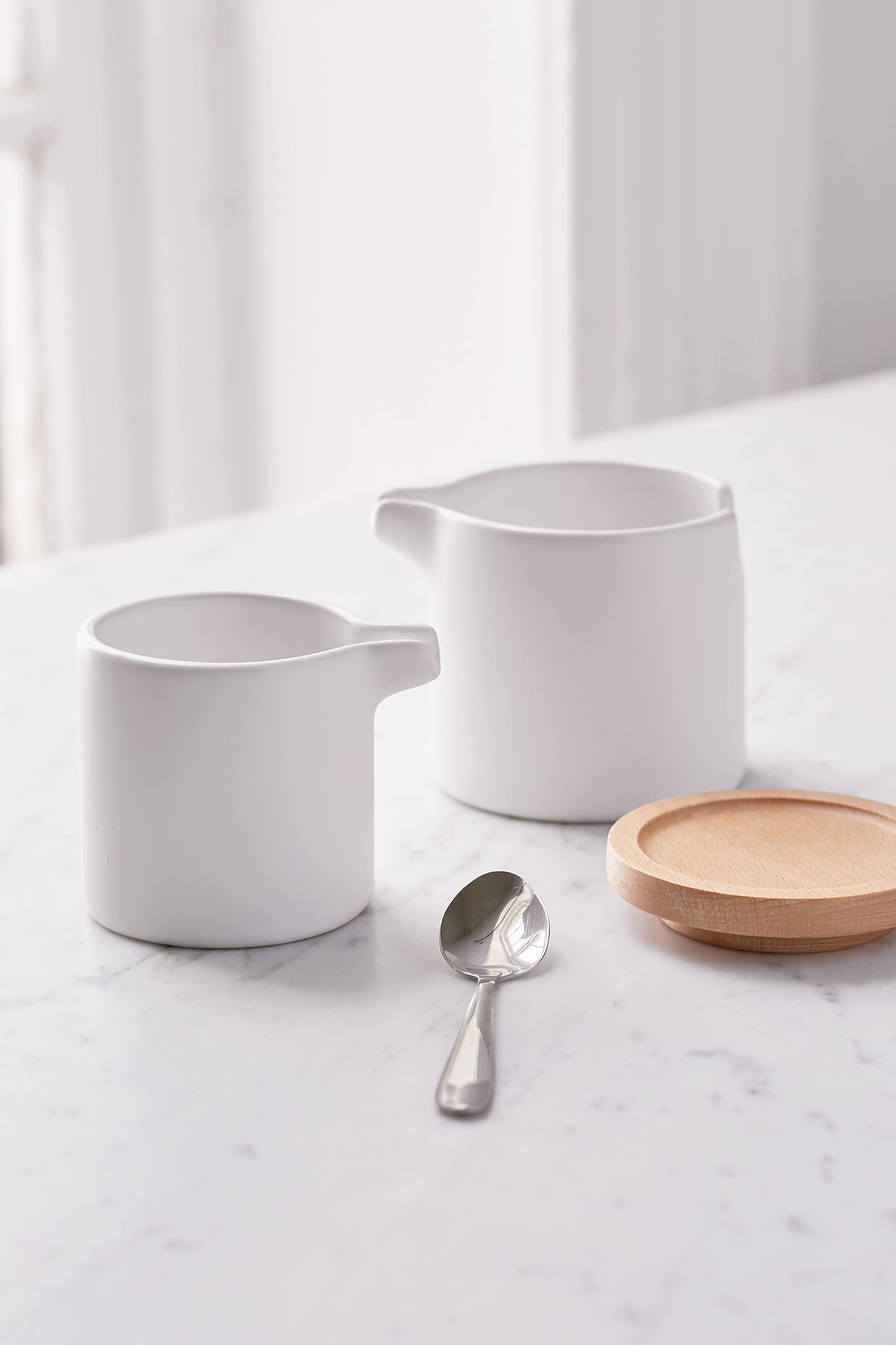 nesting cream  sugar dish set  urban outfitters - slide view  nesting cream  sugar dish set