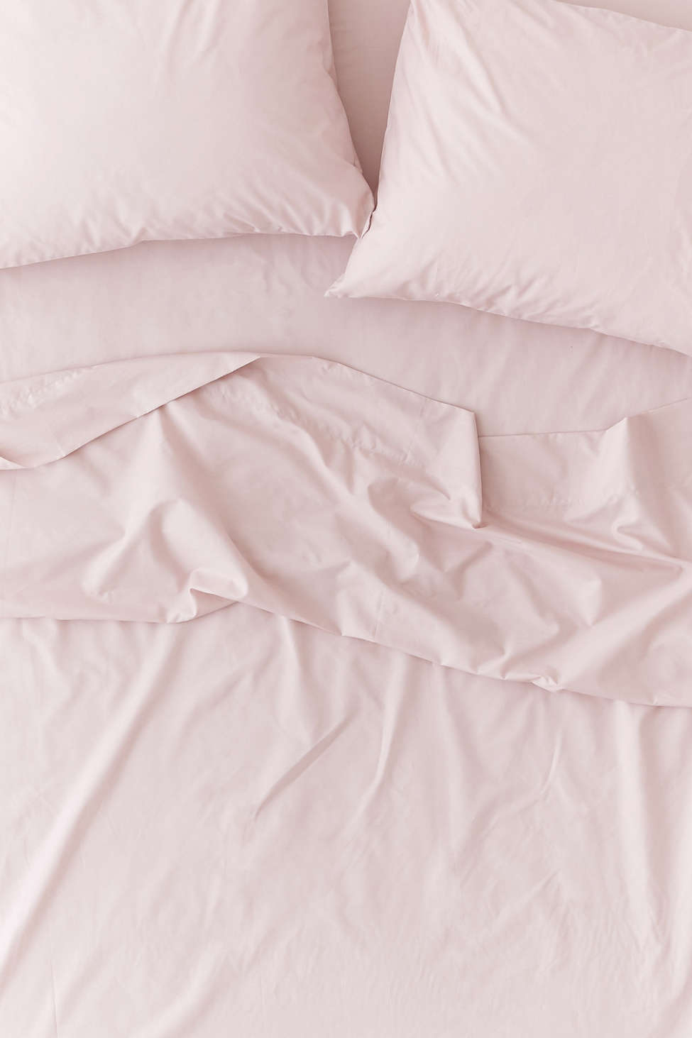 Slide View: 2: Solid Percale Cotton Sheet Set