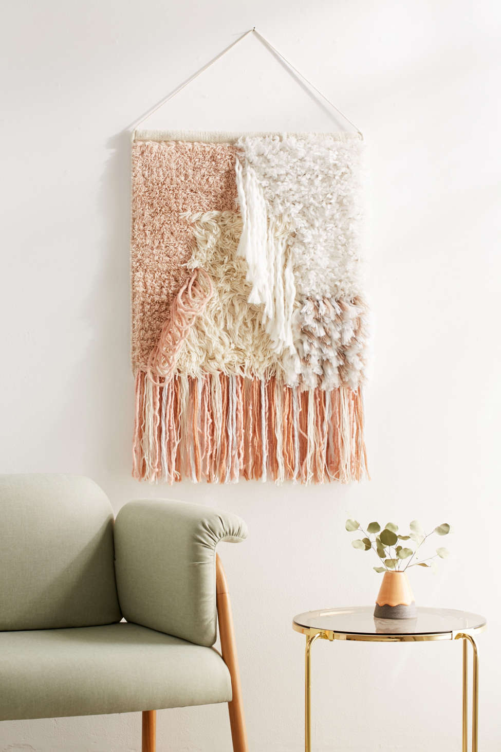Slide View: 1: Talla Textured Wall Hanging