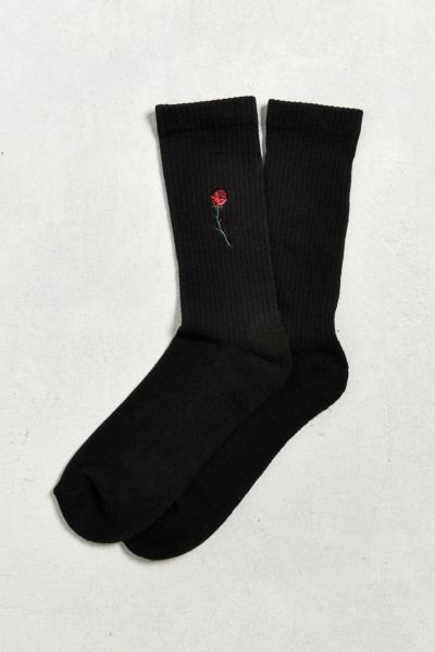 Embroidered Rose Sport Sock Urban Outfitters