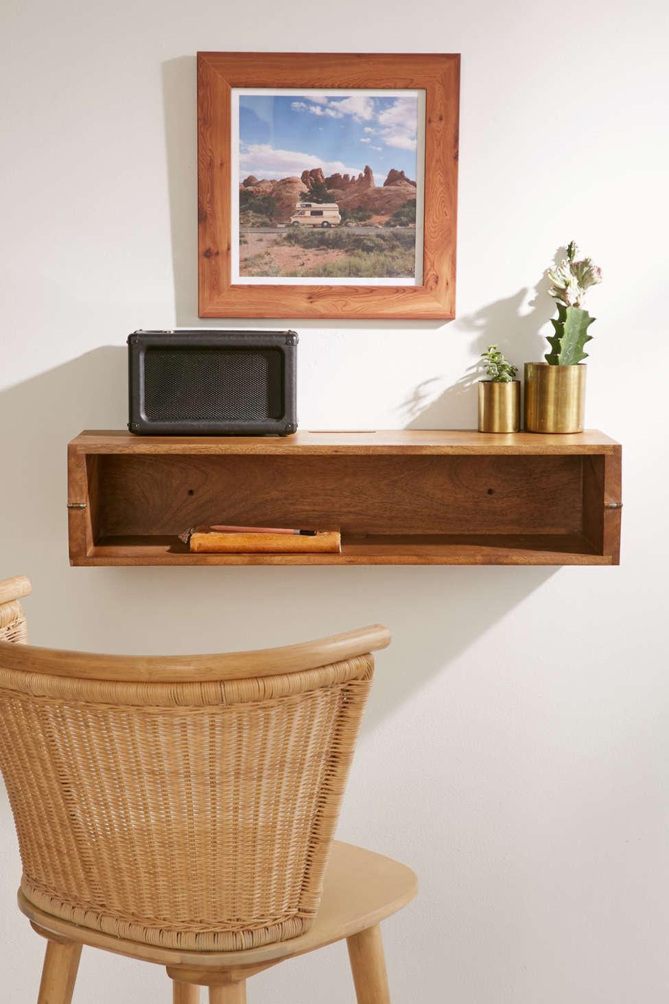 Slide View: 1: Woodlyn Folding Desk Shelf