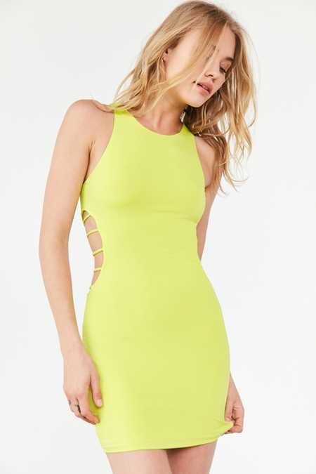 Silence + Noise Strappy Cutout Bodycon Dress