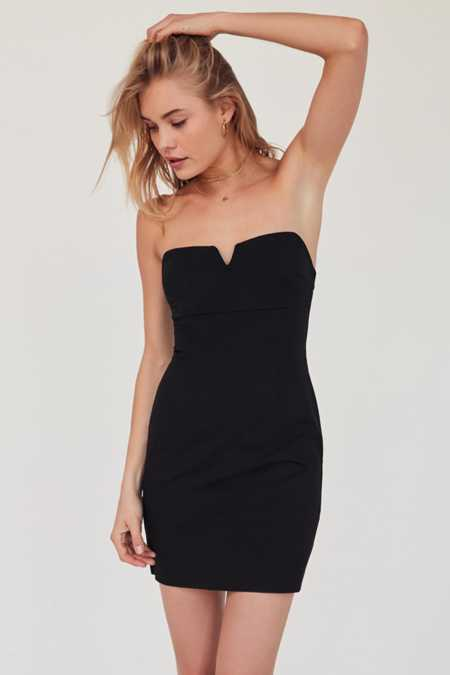 Silence + Noise Marcella Notched Strapless Dress
