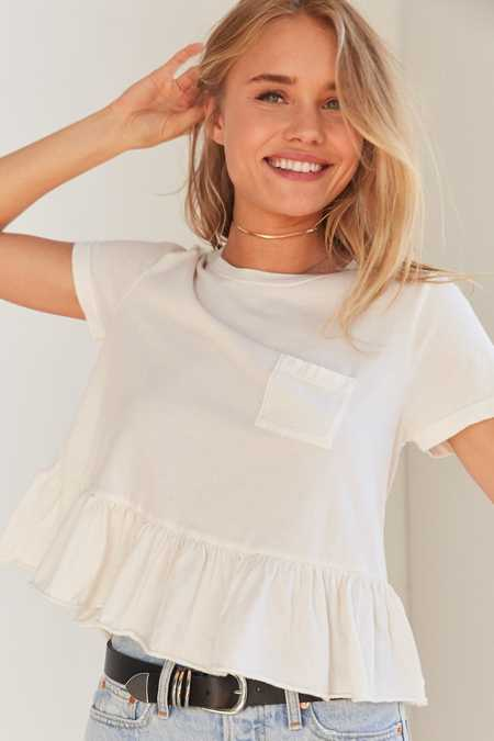 Truly Madly Deeply Babydoll Peplum Tee