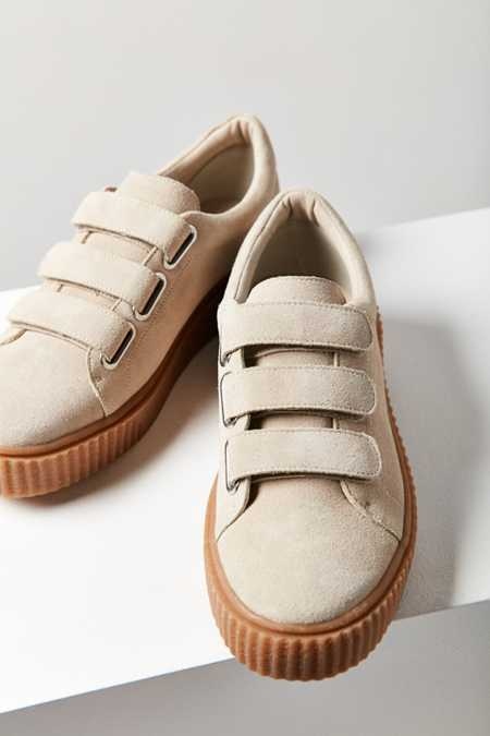 Hollie Three-Strap Creeper Sneaker
