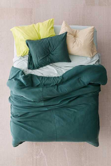 Faded Ribbed Jersey Comforter