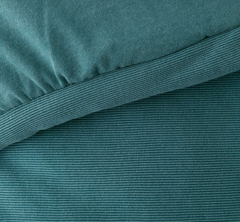 Slide View: 5: Faded Ribbed Jersey Comforter