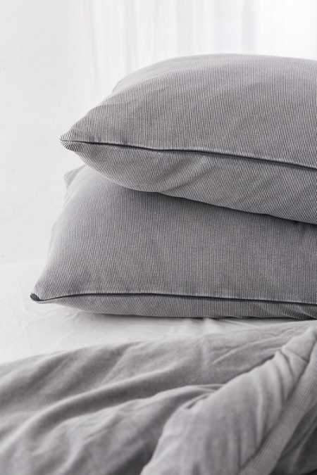 Slide View: 2: Faded Ribbed Jersey Pillowcase Set