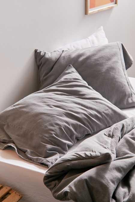 Slide View: 3: Faded Ribbed Jersey Pillowcase Set