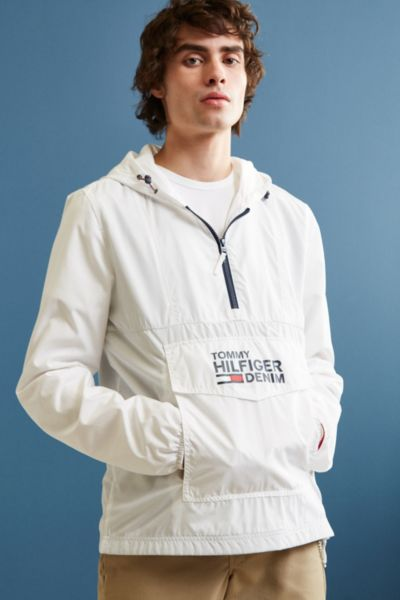 Tommy Hilfiger Windbreaker Jacket - White XL at Urban Outfitters