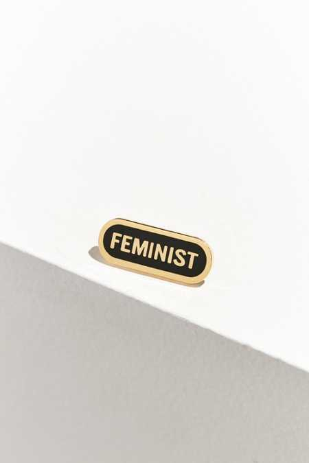 Word For Word Feminist Pin
