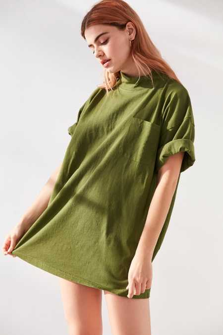 Silence + Noise Lara Mock Neck Tunic Tee