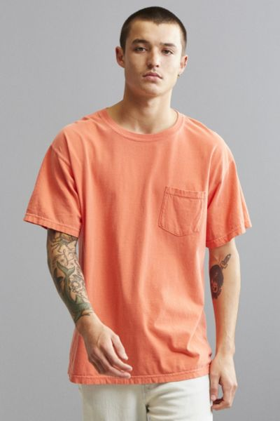 Comfort Colors Pocket Tee - Coral S at Urban Outfitters