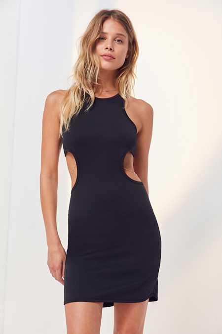 Silence + Noise Cutout Side Bodycon Mini Dress