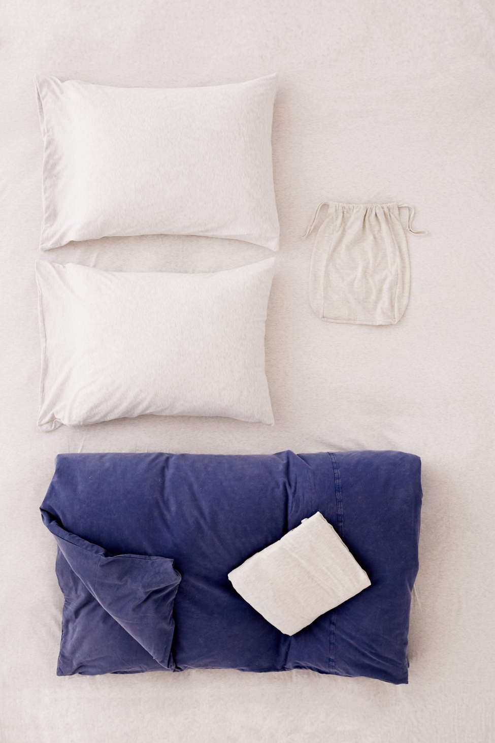 Slide View: 2: Frankie Pieced Jersey Duvet Snooze Set