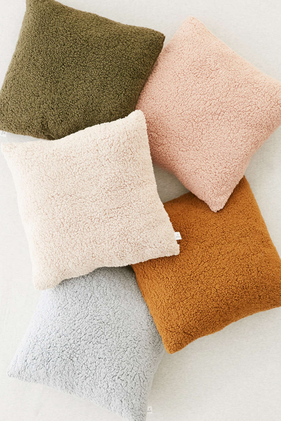 sherpa fleece throw pillow | urban outfitters Where to Get Throw Pillows
