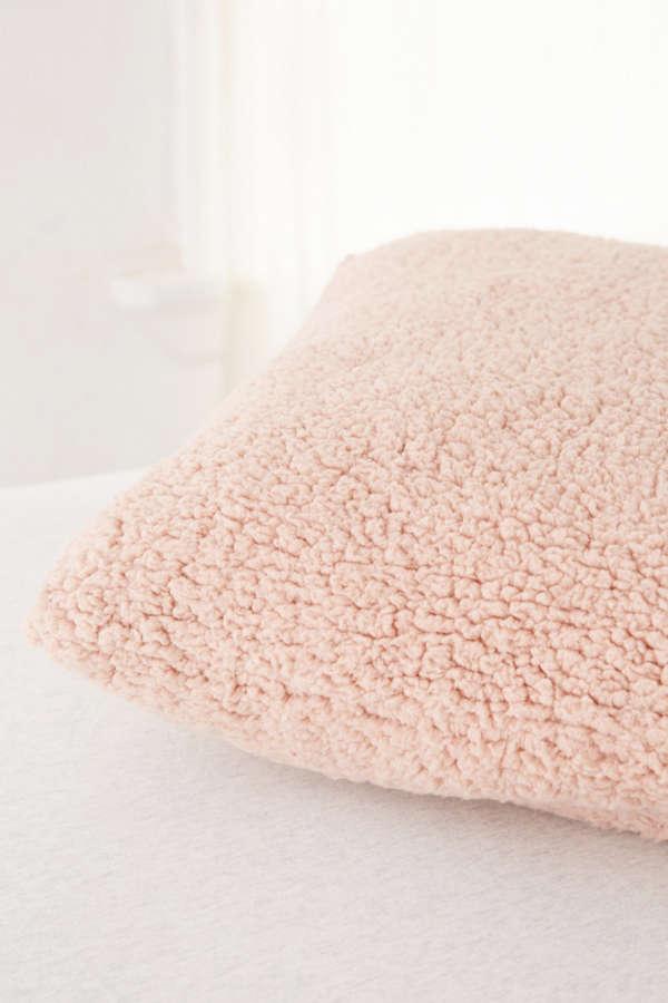 Sherpa Fleece Throw Pillow Urban Outfitters