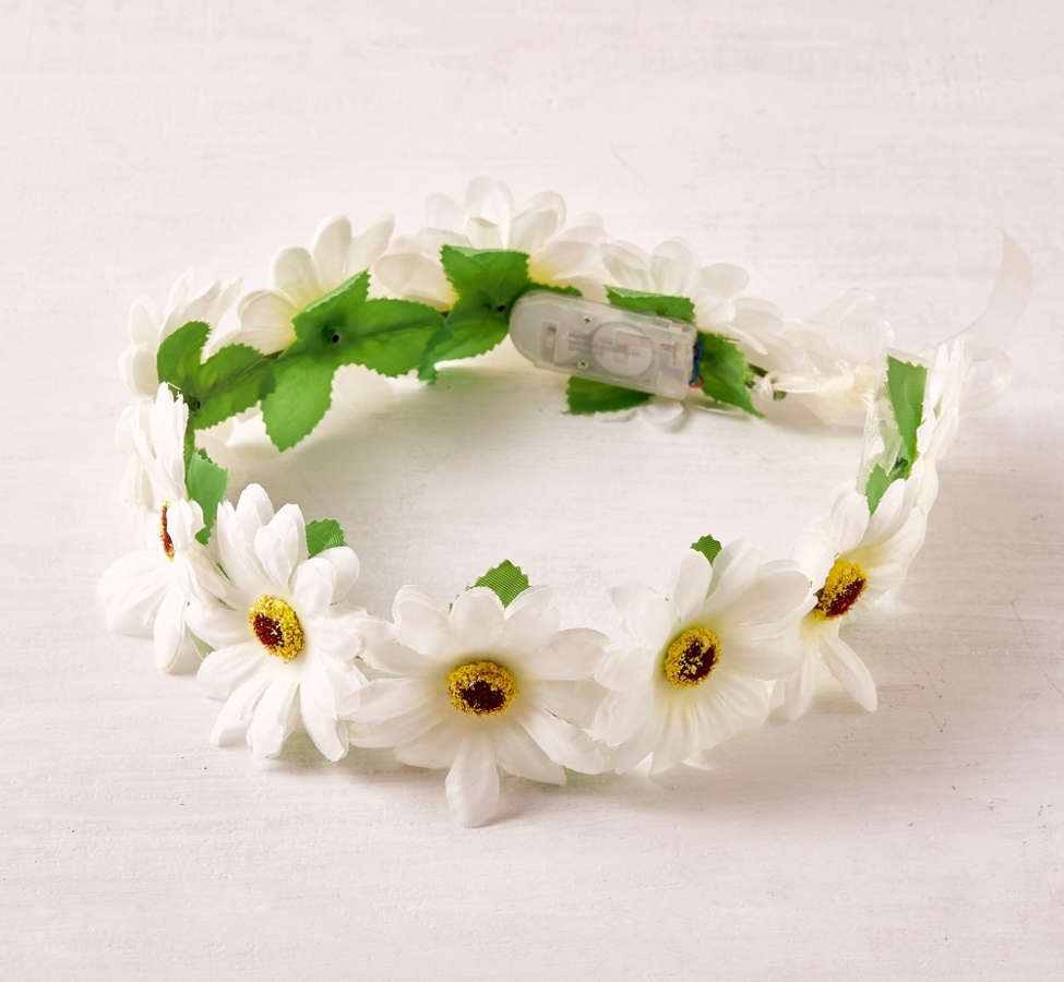 Slide View: 2: LED Daisy Flower Crown
