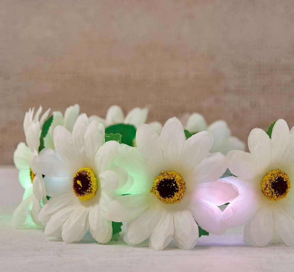 Slide View: 3: LED Daisy Flower Crown