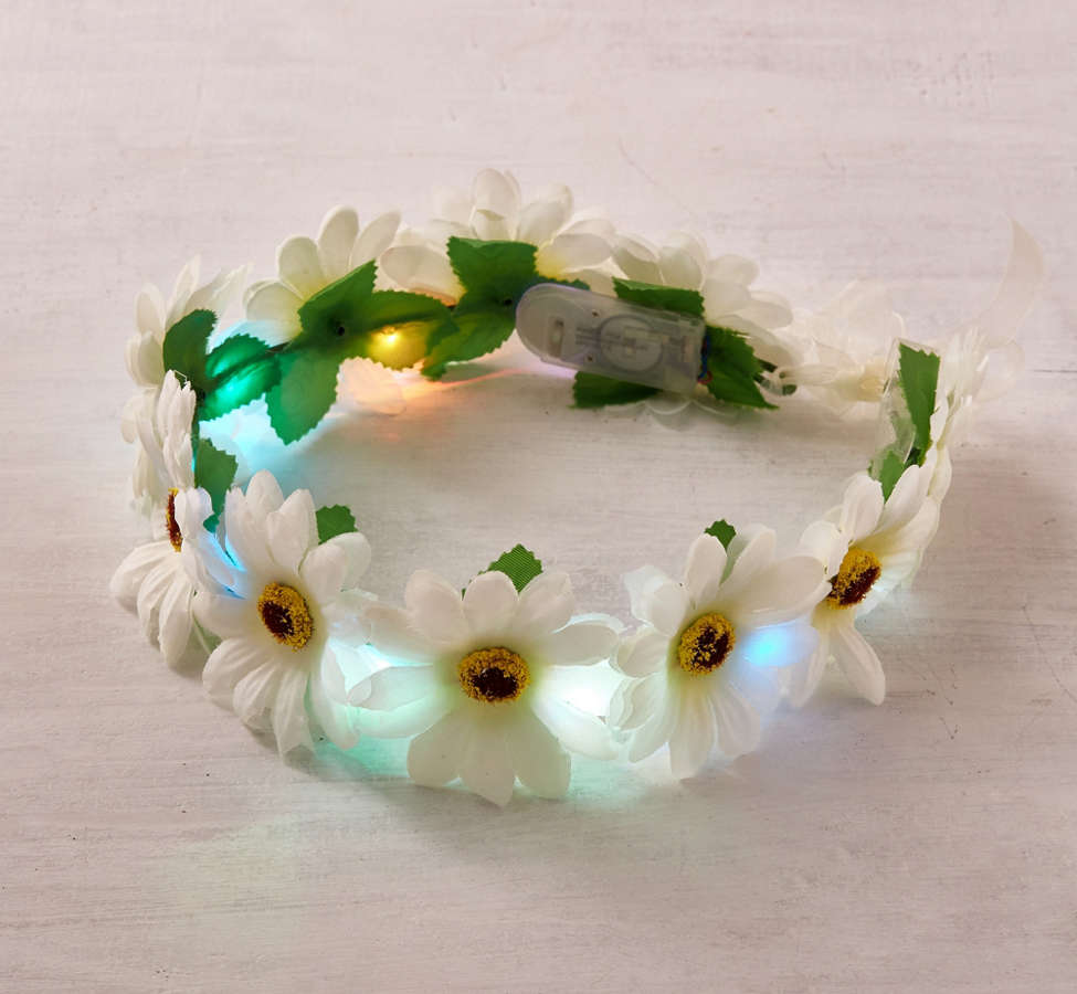 Slide View: 4: LED Daisy Flower Crown