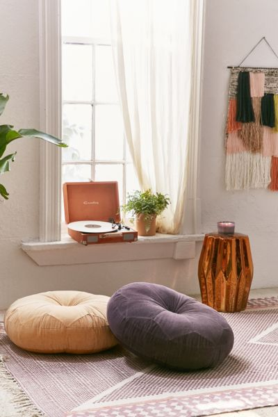 Moroccan Corduroy Pillow Pouf - Tan One Size at Urban Outfitters