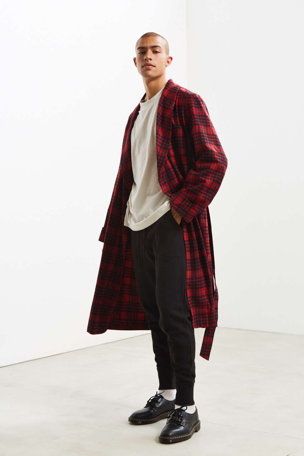 Slide View: 1: Pendleton Plaid Lounge Robe