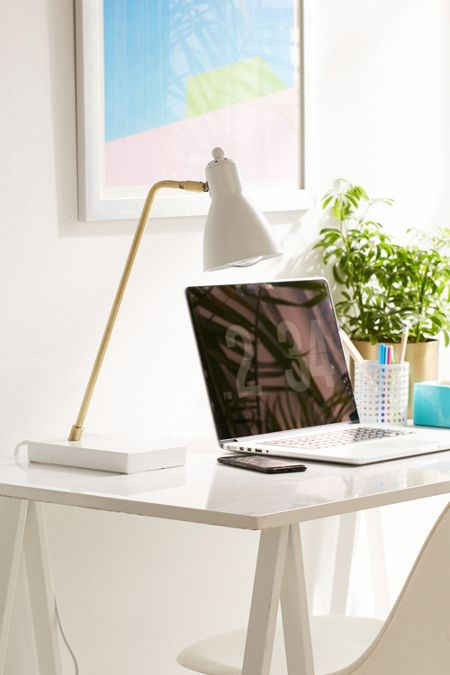 Desk accessories dcor urban outfitters riggins usb desk lamp gumiabroncs Choice Image
