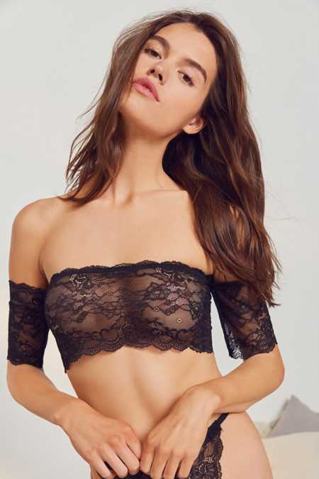 Out From Under Auri Lace Off-The-Shoulder Bra