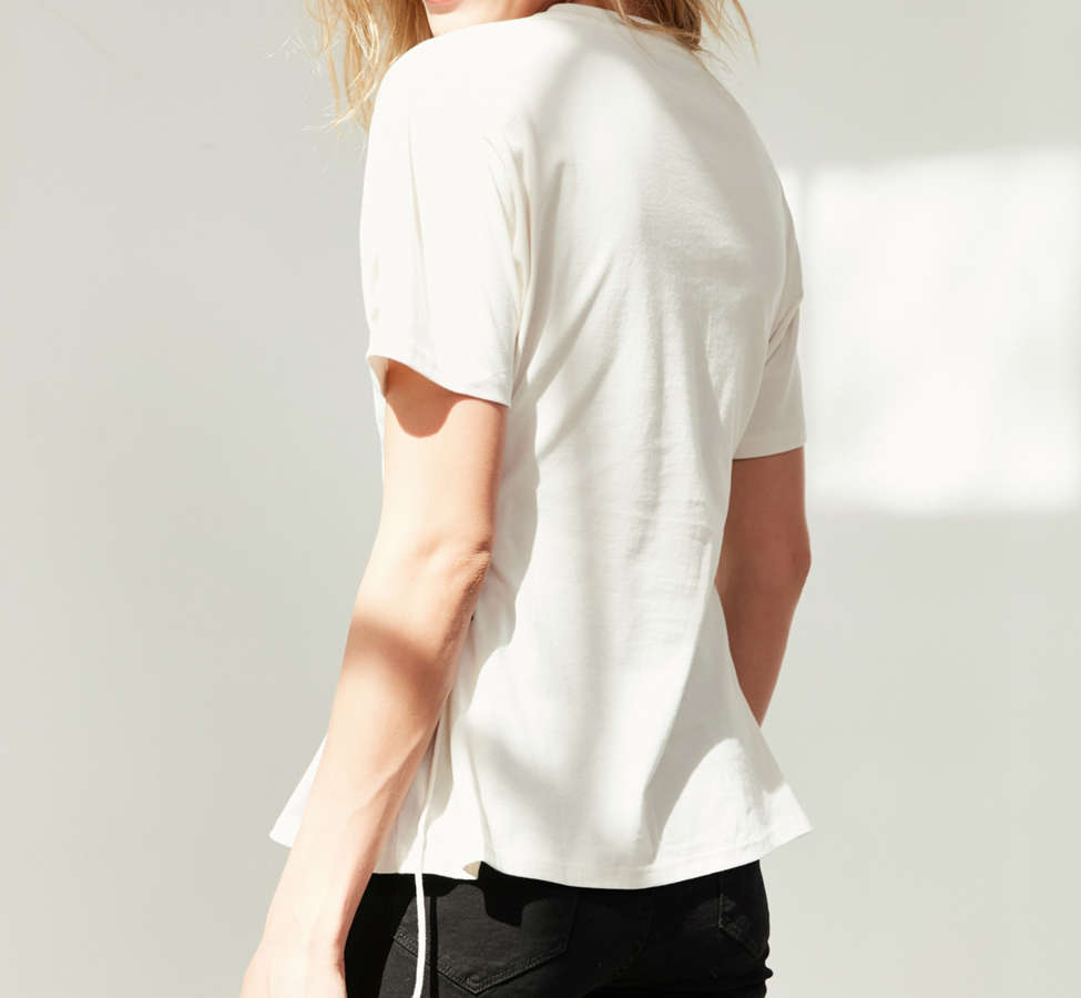 Slide View: 4: Silence + Noise Lace-Up Side Corset Tee