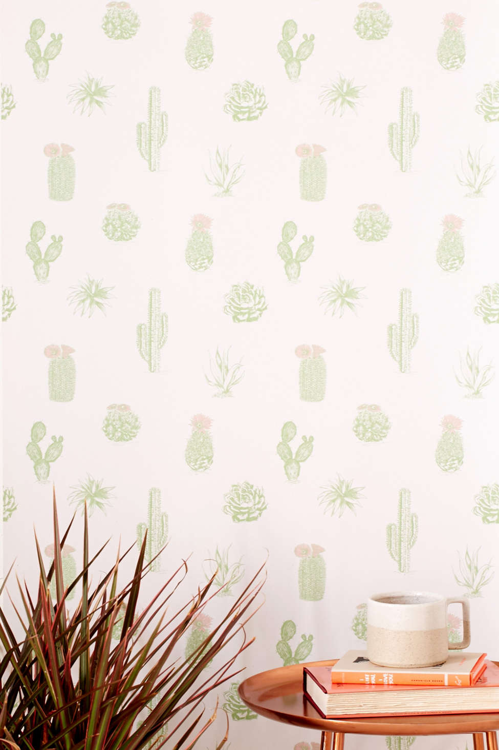 Removable Wallpaper cactus icon removable wallpaper   urban outfitters