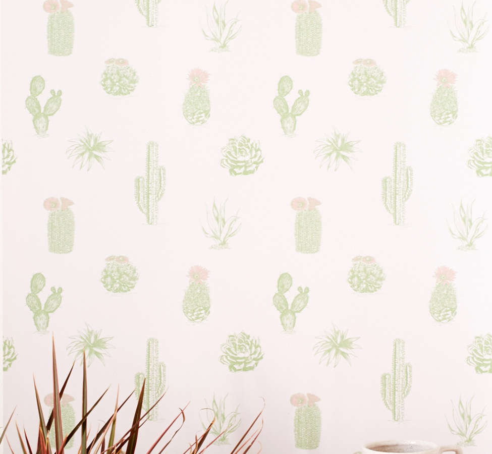 Slide View: 1: Cactus Icon Removable Wallpaper