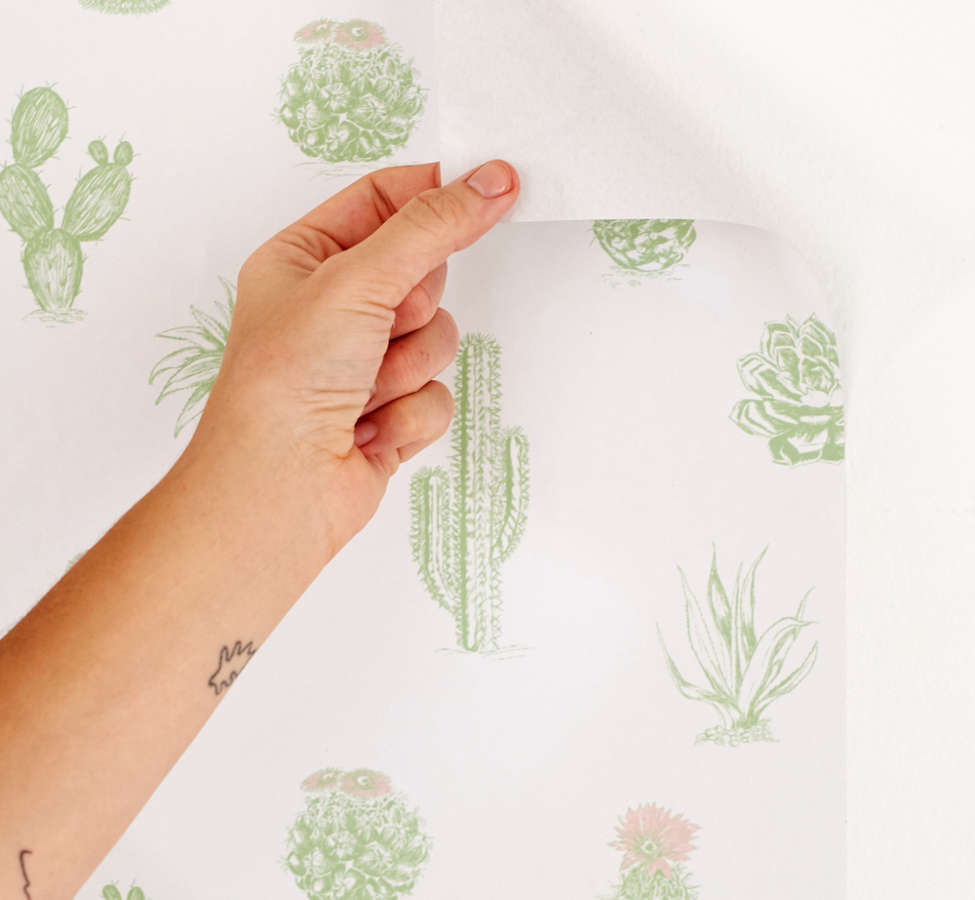 Slide View: 3: Cactus Icon Removable Wallpaper