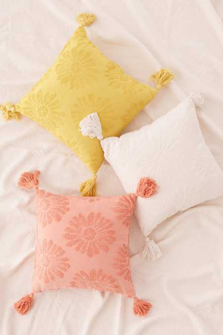 Dotty Daisy Throw Pillow