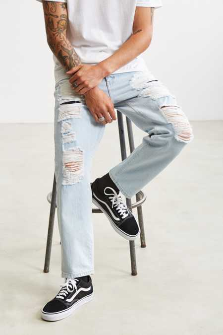 Dr. Denim Otis Destroyed Cropped Jean