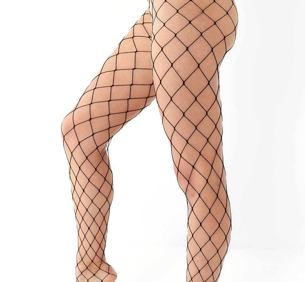 Slide View: 2: Out From Under Wide Net Fishnet Tight