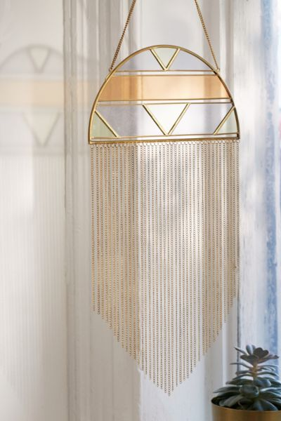 Alley Glass Fringe Wall Hanging Urban Outfitters