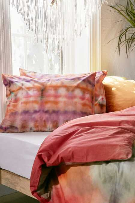 Keeley Rainbow Tie-Dye Pillowcase Set
